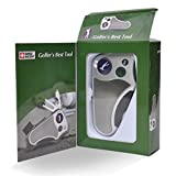 Golfer's Tool Golf Multitool All in One – Schlagzähler, Divot Repair Tool, Bürste, Ballmarker, Cleat Tightener, Club Groove Cleaner, Golf-Geschenkidee für Männer und Frauen, Souvenir, Geschenk