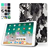 TNP iPad Pro 10.5 Case - Ultra Slim Lightweight Smart Shell Folio Cover Case with Multi-angle Stand, Smart Auto Wake / Sleep for Apple iPad Pro 10.5 2017 Tablet (Camouflage Black)